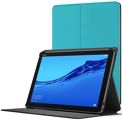 Forefront Cases Smart Funda para Huawei Mediapad M5 Lite 10, Estuche Protector con Cierre Magnético para Mediapad M5 Lite 10 Pulgadas, Smart Auto Sueño Estela Función, Azul Claro