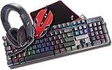 TekNmotion Nibiru 4-In-1 Gaming Bundle Keyboard, Mouse, Headset, Mousepad - PC