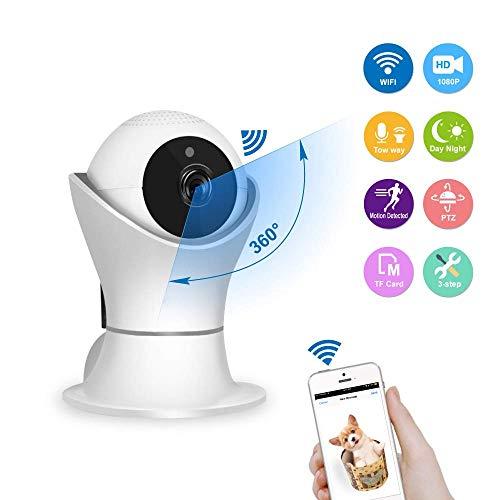 1080P WiFi IP Camera Veiligheid van het Huis Wireless surveillance met bewegingsdetectie Real-time Alert Push met 2-weg audio, for een kind/Dier/Elder HAOSHUAI