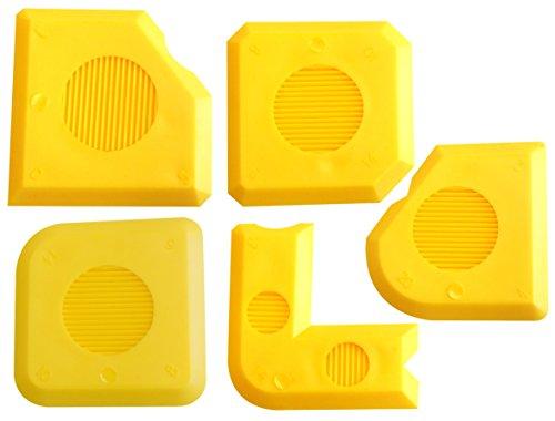 Fugenglätter Silikon Set Fugen ASS PLUS | 18 verschiedene Fugenformen | Silikon Abzieher | Fugenkratzer Ergänzung