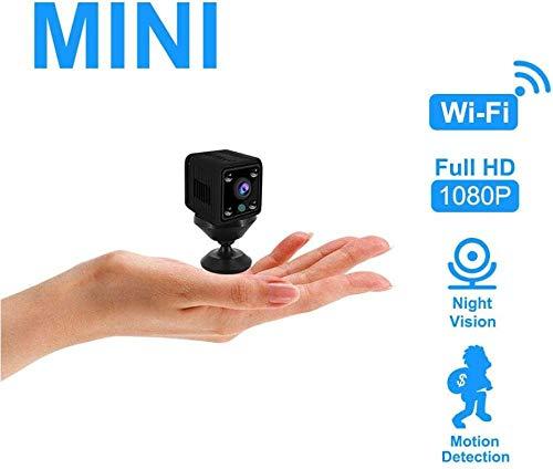 ASDASD 1080P Seguridad Mini cámara WiFi Inalámbrico Inicio Batería incorporada Cámara IP 720P HD IR Visión Nocturna Monitor de bebé Vigilancia CCTV @ 1080p con 64 GB SD_AU Plug