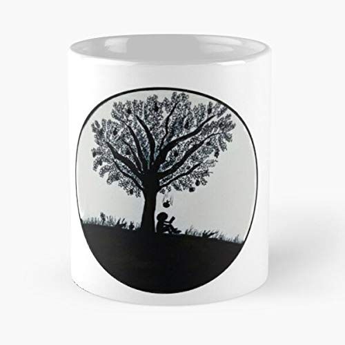 DOUTREE Delivered Tree Newton Fall Apple Inktober Migliore Tazza da caffè Regalo 11 oz