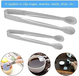 FOCCTS 8pcs Pinzas de Azúcar de Caramelo de Acero Inoxidable para Boda Fiesta de Cumpleaños Cocina Bar