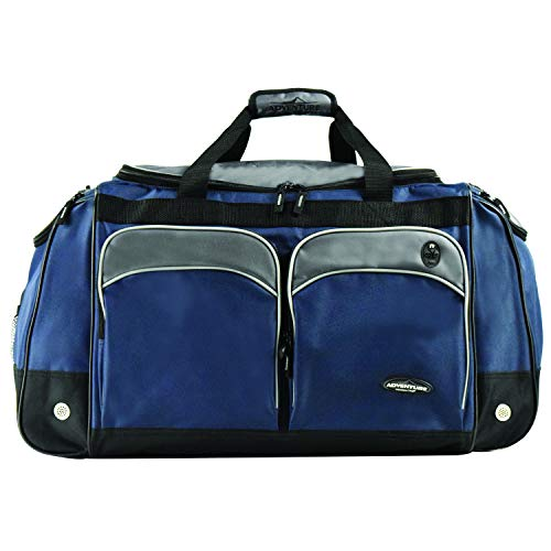 "Travelers Club 28"" ADVENTURE Travel and Outdoor Duffle Bag, Blue Option Massachusetts"