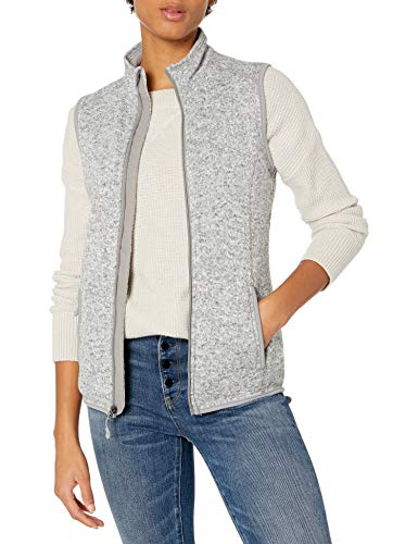 Charles River Apparel Women's Pacific Sweater Fleece Vest, Light Grey Heather, M