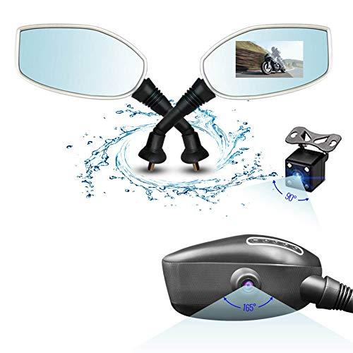 FANMURAN - Cámara DVR para salpicadero de Moto, grabación automática Delantera y Trasera, Doble cámara HD 1080 P 170° de 3 Pulgadas