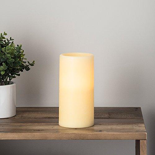 Lights4fun LED Echtwachskerze batteriebetrieben 20cm