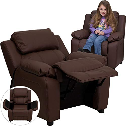 Flash Furniture Deluxe Padded Contemporary Brown LeatherSoft...