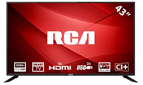 RCA RS43F1 109 cm (43 inch) LED-Smart (Full HD, Triple Tuner, HDMI, CI+, Mediaplayer per USB 2.0) [Energieklasse A]