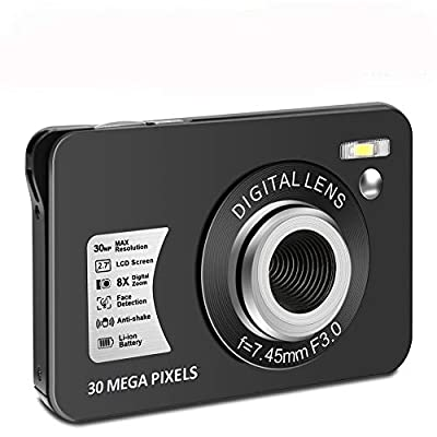 Digital Camera HD 1080P Vlogging Camera 30 MP Mini Camera 2.7 Inch LCD Screen Camera with 8X Digital Zoom Compact Cameras for Adult, Kids, Beginners by CEDITA