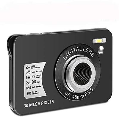 Digital Camera HD 1080P Vlogging Camera 30 MP Mini Camera 2.7 Inch LCD Screen Camera with 8X Digital Zoom Compact Cameras for Adult, Kids, Beginners (1) by CEDITA