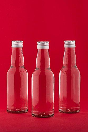 casavetro Clear Screw Top Botellas de Vidrio vacías 200 ml - Tapas giratorias Recargables Reutilizables - Tapa de Metal Ajustada al Aire para Kombucha Home Brewing Gin Aceite Vinagre (24 x 200 ml)
