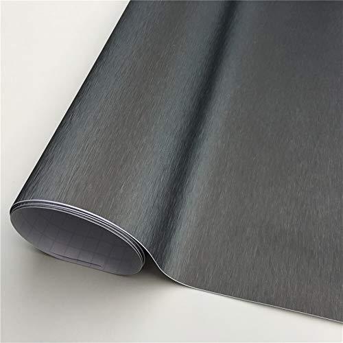 Gebürstete Silber Vinyl Auto Wraps Filmfolie Autoverpackung Blase Free Möbelkonsole Computer Laptop Telefonabdeckung (Color Name : Grey, Size : 152X20 cm)