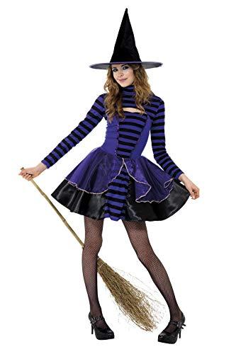 Halloween! Smiffys Kostüm mit Streifen Dunkle Teenie-Fee, Purpur und Schwarz, mit Kleid und Bolero