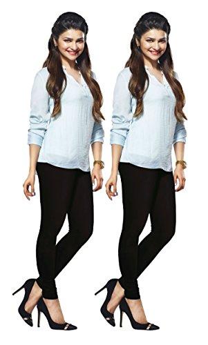 Lux Lyra Women's Black Churidar Leggings Set of 2