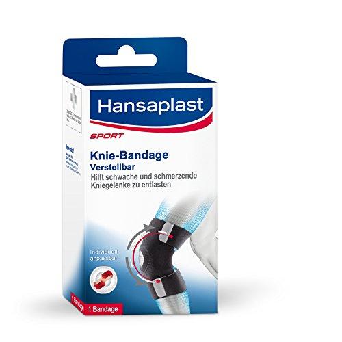 Hansaplast Kniebandage, Knie Sportbandage zur Vorbeugung von Verletzungen, Knieschoner für Alltag, Hobby und Sport, für rechts und links verwendbar