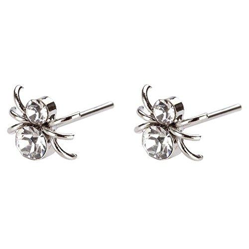 Ohrstecker Ohrring CLEAR Spinnen Made mit Kristall Glas von Joe Cool