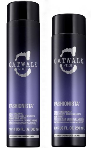 Tigi Catwalk Fashionista Violet Set (Shampoo 300ml + Conditioner 250ml)