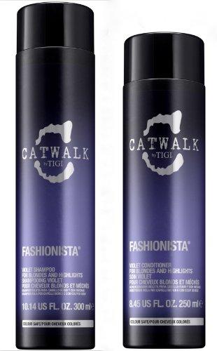Tigi Catwalk Fashionista Violet Set (champú 300 ml + acondicionador 250 ml)
