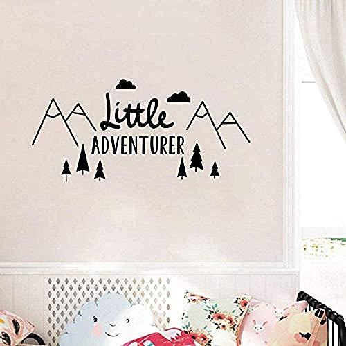 Muurstickers, modieus muursticker muursticker kleine avonturier sticker Scandinavische kinderkamer behang decoratie Vinyl Art Poster 57 * 119cm