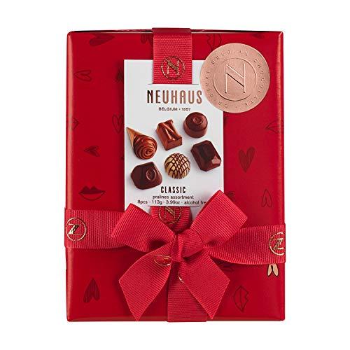 Neuhaus Belgian Chocolate Classic Pralines Assortment Ballotin - 1/4 lb , Premium Chocolate Gift Ballotin Box , Gourmet Milk, Dark, White Chocolate Praline Assortment, 8 count