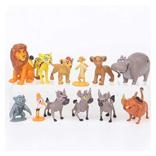 Figuras De Acción 12pcs / Conjunto de Dibujos Animados La Guardia Rey león Simba Kion acción del...