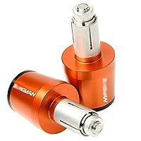 モーターサイクルハンドルグリップエンドハンドルバーエンドカバーキャップスズキバーグマン用、650,400,125,200,250、AN650、AN400、AN125、AN200、アクセサリー (Color : Orange)