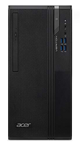 Acer Veriton VES2740G - Ordenador de sobremesa con procesador Intel Core i5-10400, RAM 8 GB DDR4, 256 GB M.2 PCIE SSD, DVD-RW, Tarjeta gráfica Intel UHD, Teclado y ratón USB, Windows 10 Home, Negro