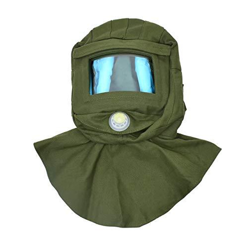 Magiin Sandstrahlhaube Kappe, Schal Cap Sandstrahlmaske Anti-Wind/Sandstrahlwerkzeuge Staubschutz Gesichtsmaske Canvas (Grün)
