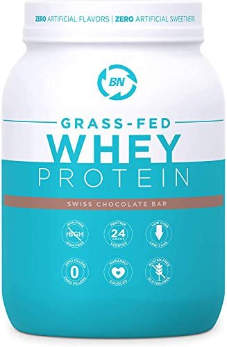 Grass Fed Whey Protein Chocolate 2lb - 100% Pure and Natural - 2lb/24 Servings - 24g Protein - Cold Processed - Non-GMO - rBGH-Free - High Quality from Happy Healthy Cows USA