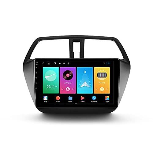 ADMLZQQ Autoradio per Suzuki SX4 2 S-Cross 2012-2016 Android 2 DIN con Bluetooth per Auto 10.1'' IPS Touchscreen 5G WiFi Auto Info Plug And Play Completo RCA Supporto Carautoplay/GPS/Dab+/OBDII,M100s