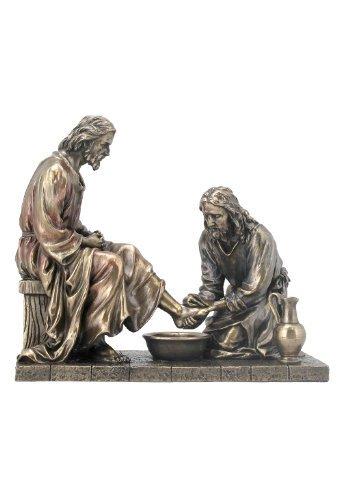WU Unicorn Studios Jesus Waschende Füße Statue Skulptur (Bronze)