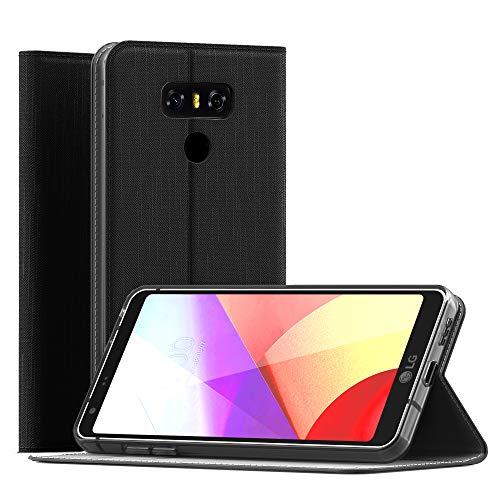 CELLONIC® Carcasa Compatible con LG G6 Cuero PU Flip Cover Tapa Funda Flip Tipo Libro Flip Case con Ranuras para Tarjetas Negro