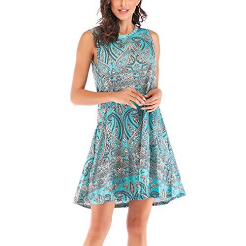 Tendycoco jurk, mouwloos, voor vrouwen, bloemenmotief, casual, cocktailjurk, violet - XL