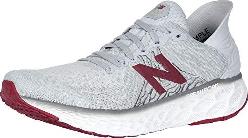 New Balance Men's Fresh Foam 1080 V10 Running Shoe, Summer Fog/Neo Crimson, 10 M US