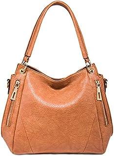 TOOGOO Casual Ladies Bag Fashion Color Matching Shoulder Bag Retro Handbag Black