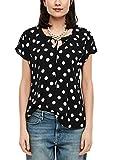 s.Oliver Damen 120.14.003.10.100.2051802 Bluse, Black AOP dots, 46