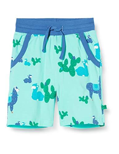 Fred's World by Green Cotton Jungen Lama Shorts, Mehrfarbig (Aqua 014481201), (Herstellergröße: 116)