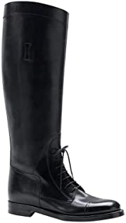 Women's Leather Lace up Boulanger Equestrian Boots 297460