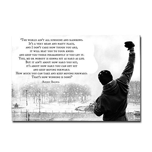 Poster Rocky Balboa Lodge Star - Inspirational Poster Dekorative Malerei, Geeignet für Wohnzimmer Coffee Shop Home Decor