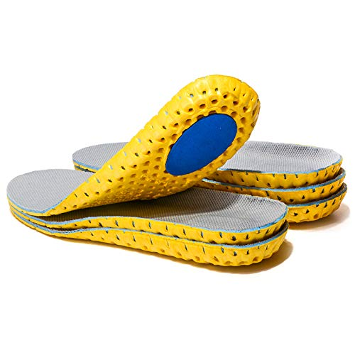 3 Pairs Elastic Shock Absorbing Shoe Insoles Breathable Honeycomb Sneaker Inserts Sports Shoe Insole Replacement Insoles for Men US(8-12)