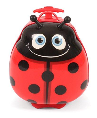 Bayer Chic 2000 - Bouncie Kinder-Trolley mit 3D-Marienkäfer-Motiv Kindergepäck, 20 Liter, Rot, 40 cm
