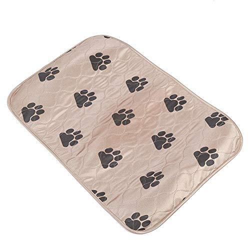 SOULONG Pee Matte Pads Hunde Welpen Inkontinenz-Unterlage Waschbar bis 60° Saugfähig Wiederverwendbar Wasser-undurchlässig 4-Schicht Design (80 * 90cm-Braun)