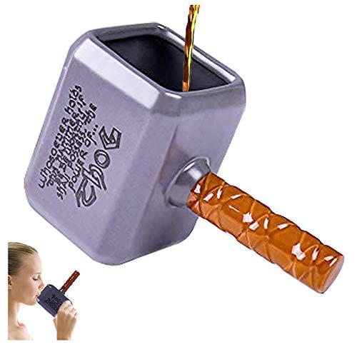 ZNEU Thor-Tasse Groß bunt in 3D, Kaffee-Tasse 450ml (550ml randvoll), Tee-Tasse Thor aus Keramik in Silber, Thor Becher, Geschenkidee, Geschenk für Männer Frauen, Geschenk Weihnacht