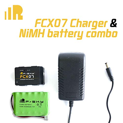 FrSky Transmitter QX7 FCX07 Charger&NiMH Battery Combo 2000mAh 7.2V Dual Mode Battery Charger Kit