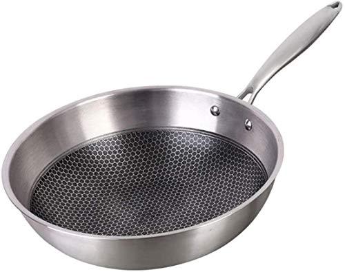 XUHRA Padella in Acciaio Inox Antiaderente Padella Antiaderente Padella Fritto Bistecca Pot Elettromagnetica Forno Generale Wok Cucina,I Soldi