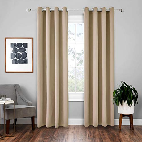Upgrow Vorhang Blickdicht Verdunklungsvorhänge Vorhänge mit Tunnelband Kollektion einfarbig Gardinen Schal für Schlafzimmer Kinderzimmer Wohnzimmer