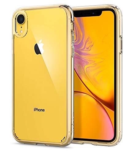 【Spigen】 iPhone XR ケース 6.1インチ 対応 クリア 米軍MIL規格取得 耐衝撃 カメラ保護 衝撃吸収 Qi充電 ワイヤレス充電 ウルトラ・ハイブリッド 064CS24873 (クリスタル・クリア)