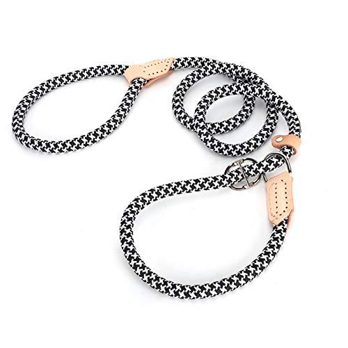 Shipenophy Fuerte y Duradero, Cuerda de tracción, la Cuerda no Necesita Collar, Cuerda de Entrenamiento para Perros(Black)