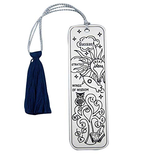 Fourseven Silver Plated Bookmark   Love To Learn Bookmark Men Women